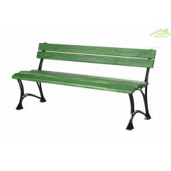 Banc de jardin vert en bois et aluminium 150cm