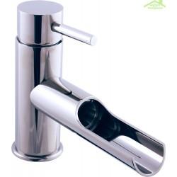Mitigeur lavabo SEINA à cascade en titane