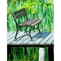 Banc de jardin en bois couleur noyer et aluminium 150cm
