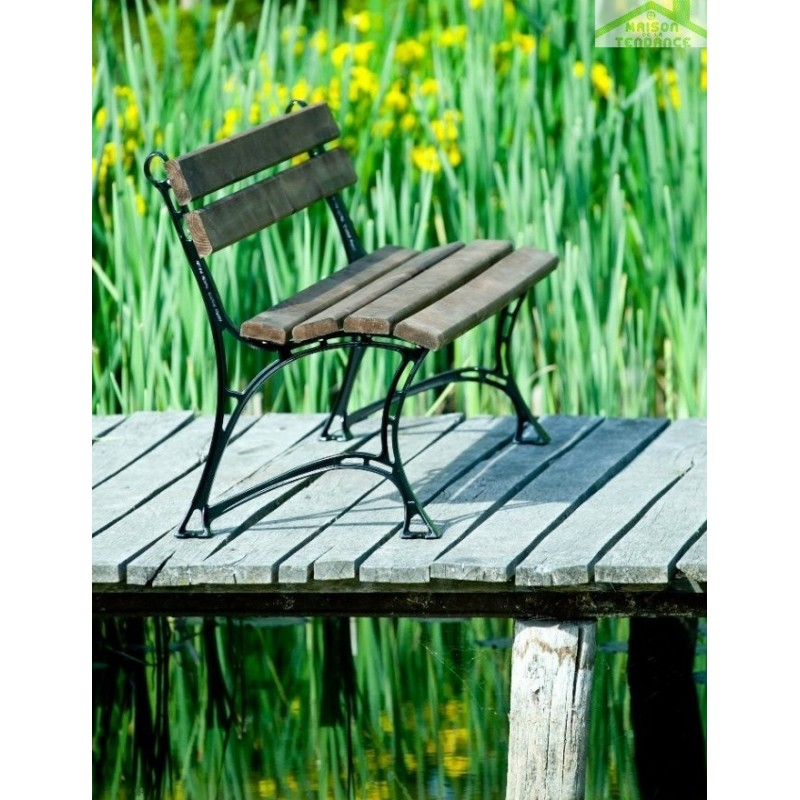 banc jardin aluminium garden bench traditional aluminum with backrest oasi by centre rud fast. Black Bedroom Furniture Sets. Home Design Ideas