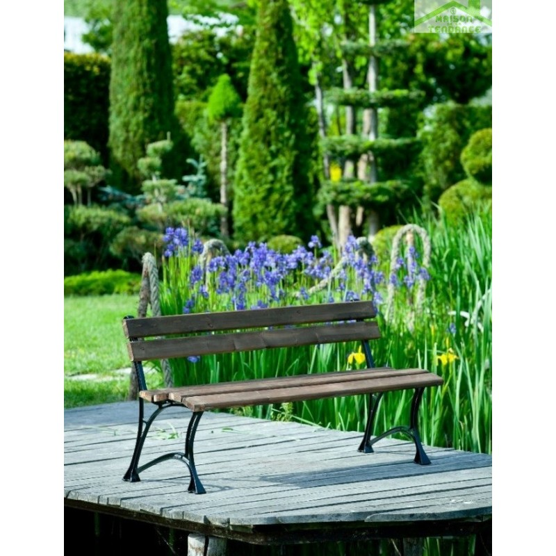 banc de jardin en bois couleur palissandre et aluminium. Black Bedroom Furniture Sets. Home Design Ideas