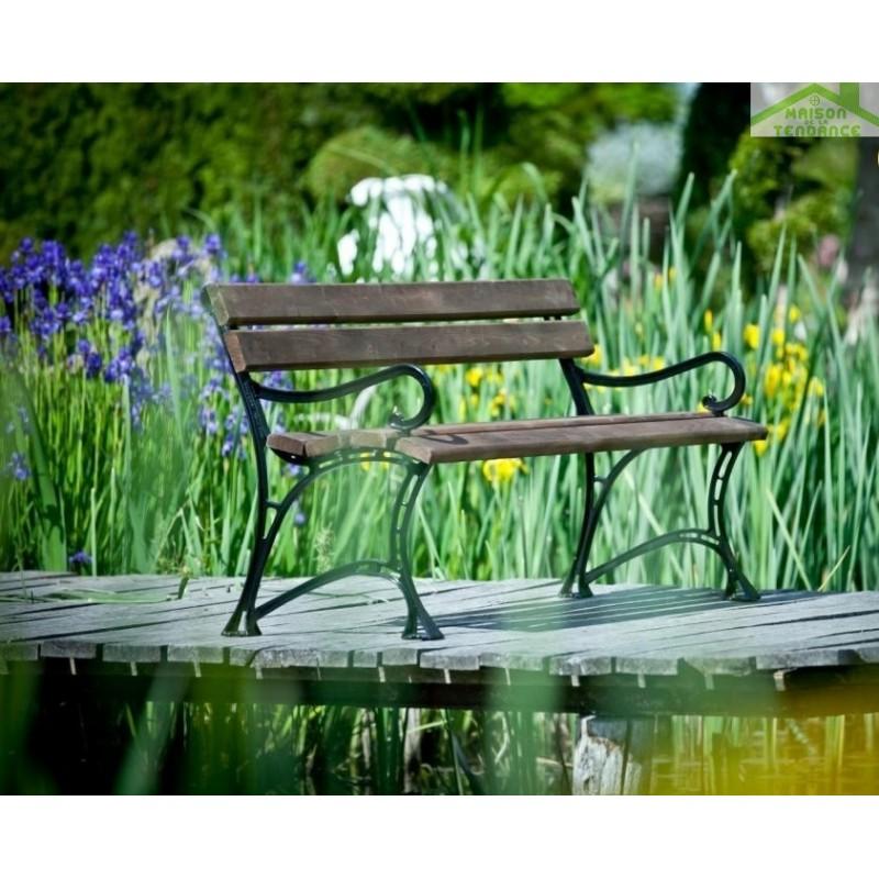 Banc de jardin en bois couleur palissandre et aluminium 150cm ...