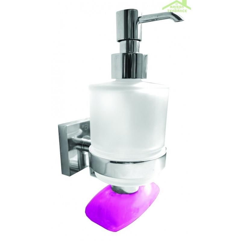 distributeur de savon liquide porte savon magn tique beta 7 5x16x10cm 200ml maison de la. Black Bedroom Furniture Sets. Home Design Ideas