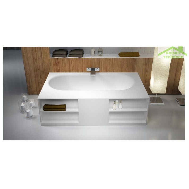 baignoire lot en solid surface riho burgos 180x102 cm. Black Bedroom Furniture Sets. Home Design Ideas