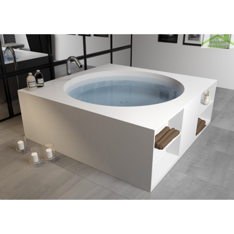 baignoire lot en solid surface granada 190 x90 cm. Black Bedroom Furniture Sets. Home Design Ideas