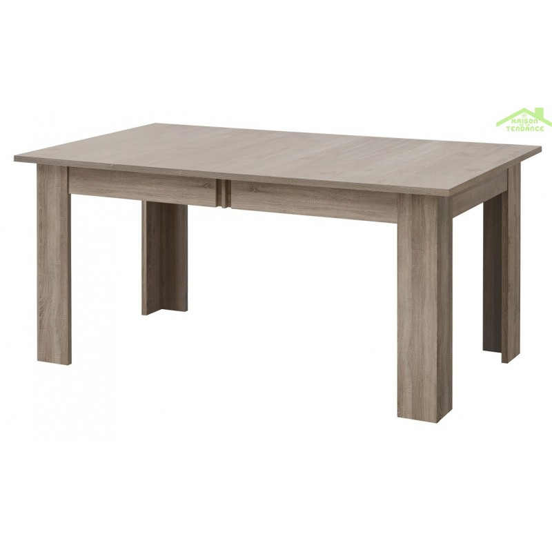 Table de s jour avec rallonges boston en ch ne truffier et for Table sejour a rallonge