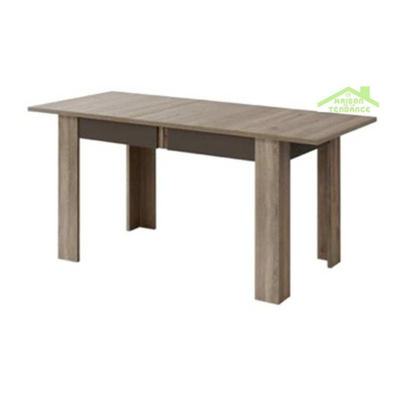 Table de s jour avec rallonges boston en ch ne truffier et for Table de sejour