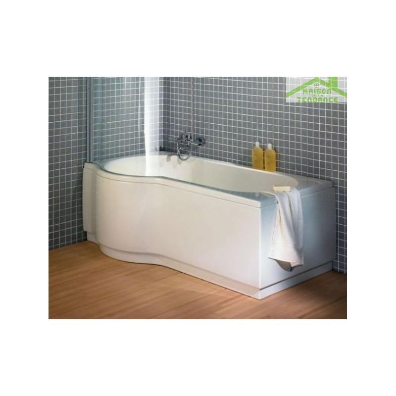 Baignoire d 39 angle acrylique dorado riho 170x75 90 cm for Prix baignoire acrylique