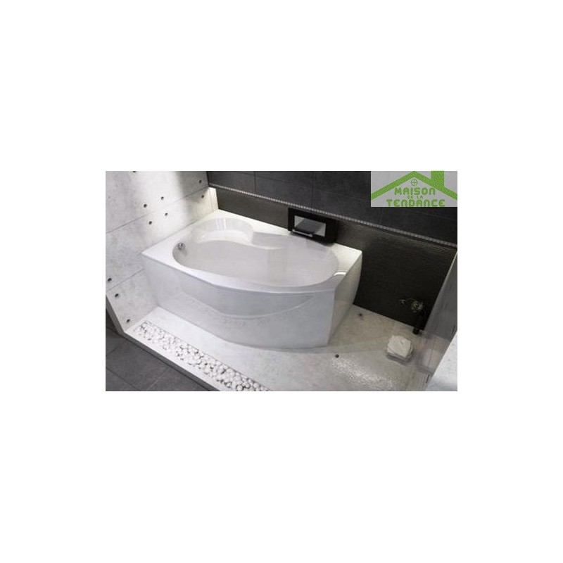 Tablier de baignoire pour nora 150x150 cm riho en acrylique - Tablier pour baignoire ...