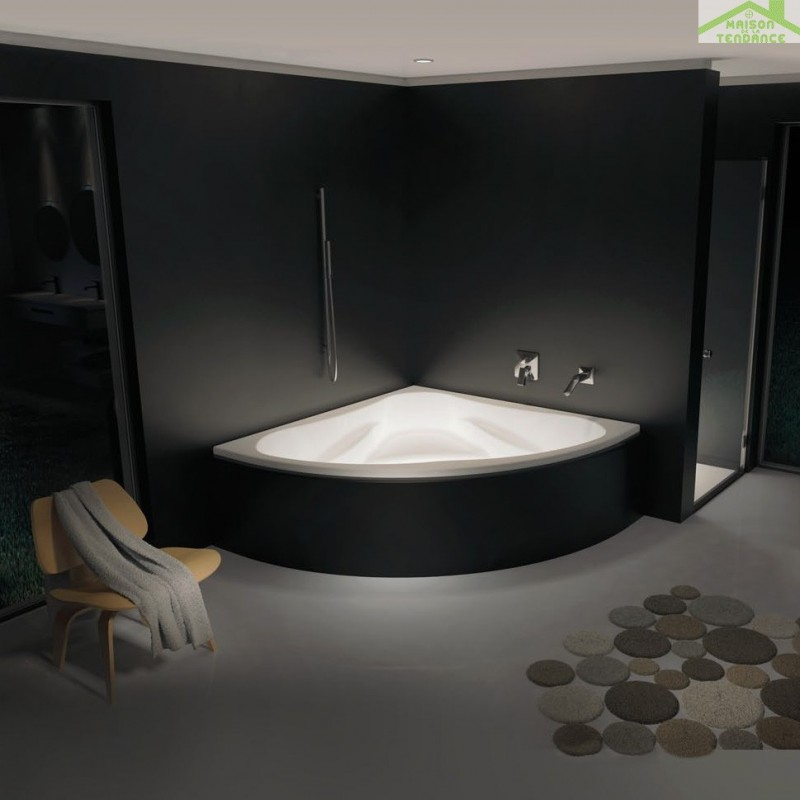 baignoire d 39 angle acrylique riho neo 140x140 cm maison de la tendance. Black Bedroom Furniture Sets. Home Design Ideas