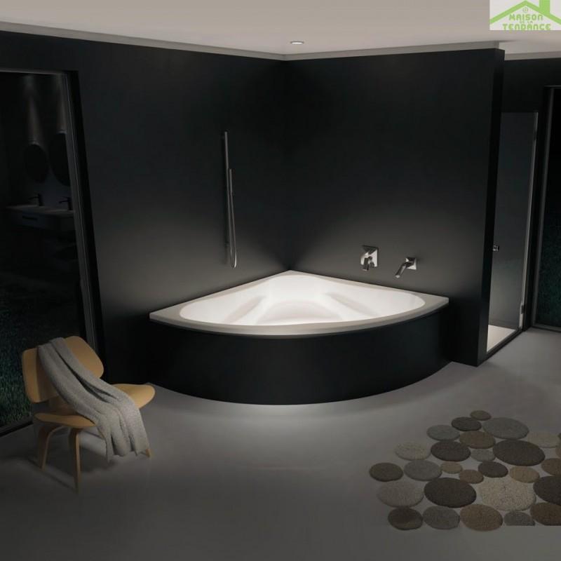 Baignoire acrylique riho d 39 angle neo 150 x150cm for Baignoire resine ou acrylique