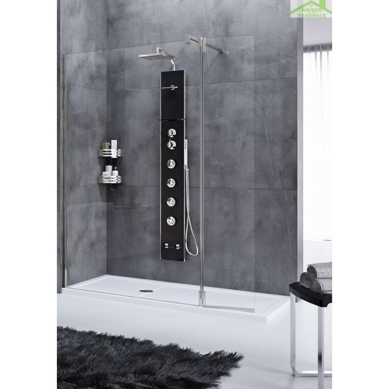 colonne de douche hydromassante m canique ou thermostatique novellini cascata2 176 cm maison. Black Bedroom Furniture Sets. Home Design Ideas