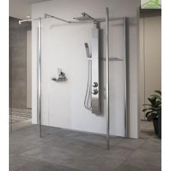 Colonne de douche suspendue hydromassante mécanique ou thermostatique NOVELLINI REVIF PLUS 118 cm