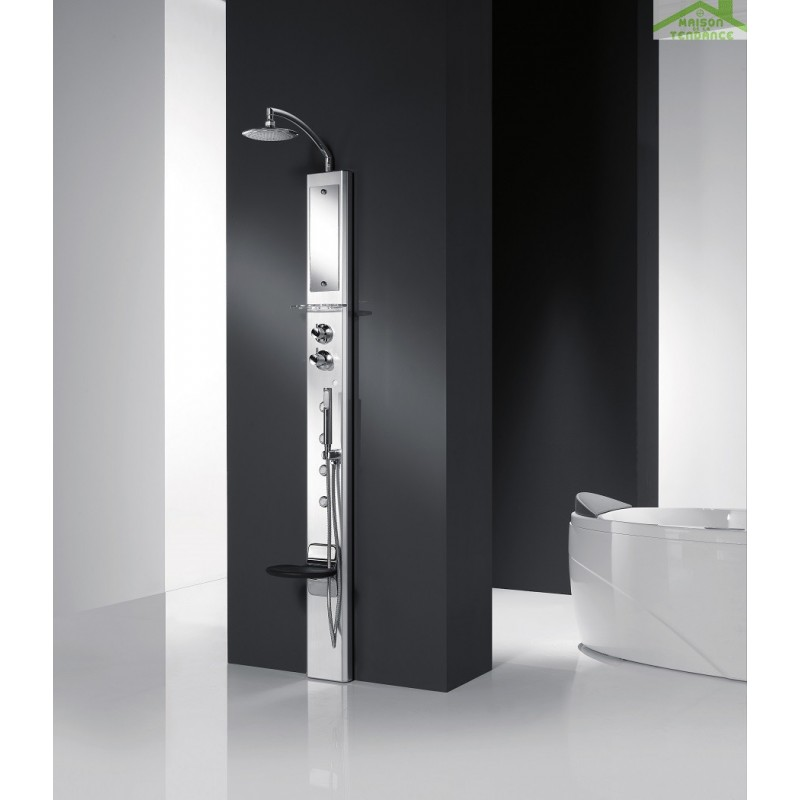 colonne de douche hydromassante thermostatique colonne de. Black Bedroom Furniture Sets. Home Design Ideas