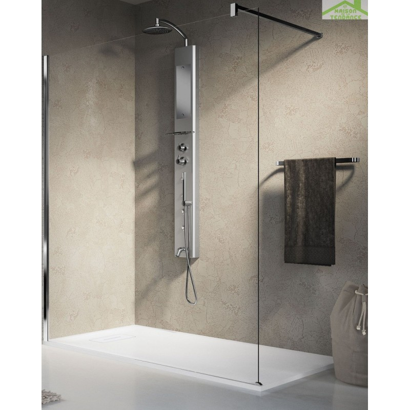colonne de douche suspendue hydromassante pour douche ou. Black Bedroom Furniture Sets. Home Design Ideas