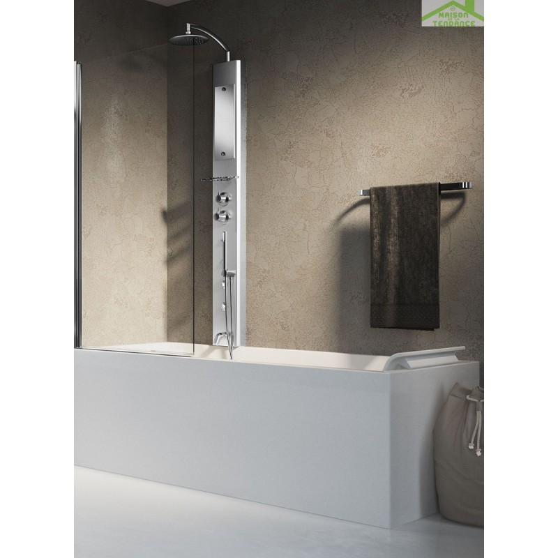 colonne de douche suspendue hydromassante pour douche ou baignoire novellini think 2 172 cm. Black Bedroom Furniture Sets. Home Design Ideas