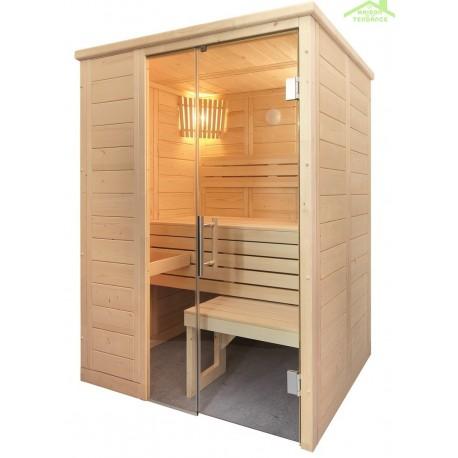 cabine de sauna alaska mini de sentiotec 160x110 cm maison de la tendance. Black Bedroom Furniture Sets. Home Design Ideas