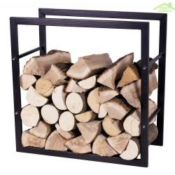 Rangement bois en acier noir 80x20x80 cm / 80x30x80 cm