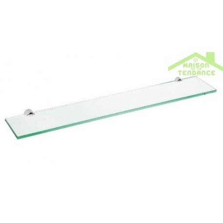 Etagère, tablette murale de douche ALFA en verre 60cm x 12 cm x 2cm ...