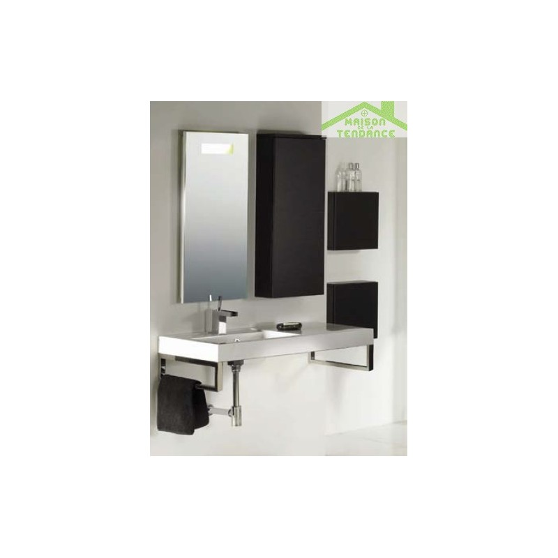 armoire de douche 1 porte riho bologna 40x40 h 96 8 cm. Black Bedroom Furniture Sets. Home Design Ideas