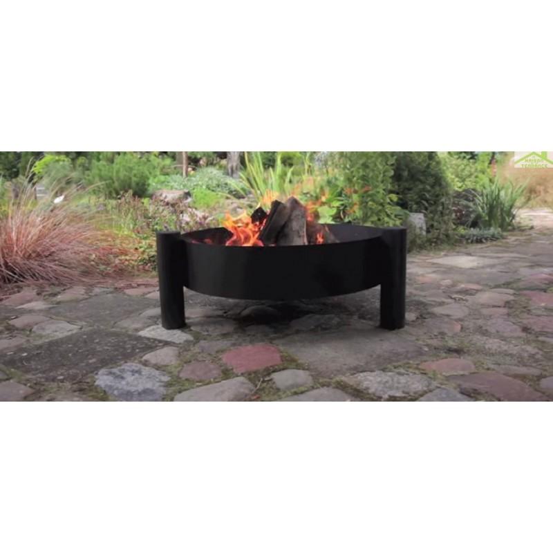 chaudron pot en fonte avec couvercle sur tr pied brasero haiti maison de la tendance. Black Bedroom Furniture Sets. Home Design Ideas