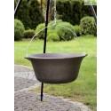 Chaudron pot en fonte avec couvercle sur trépied + brasero HAITI