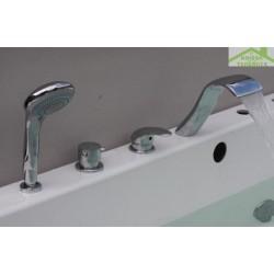Mitigeur baignoire à cascade en chrome 4 trous