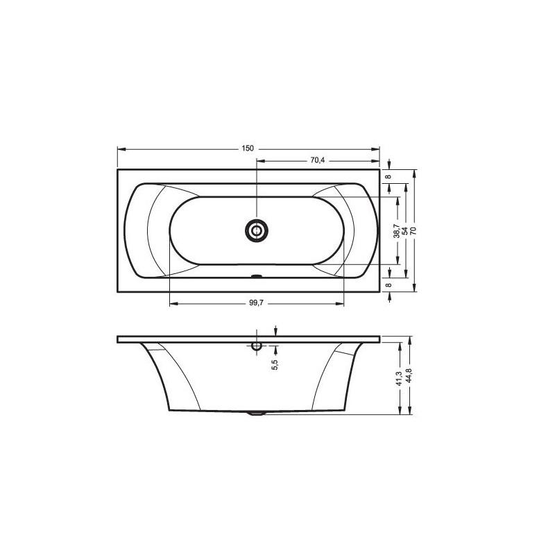 dimensions baignoire best tringle rideau de douche. Black Bedroom Furniture Sets. Home Design Ideas