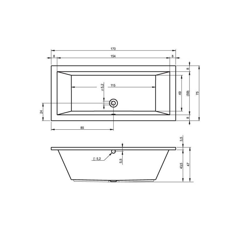 baignoire 190 80 aplusshippingcenter. Black Bedroom Furniture Sets. Home Design Ideas
