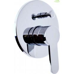 Mitigeur douche encastrable ZAMBEZE avec commutateur en chrome