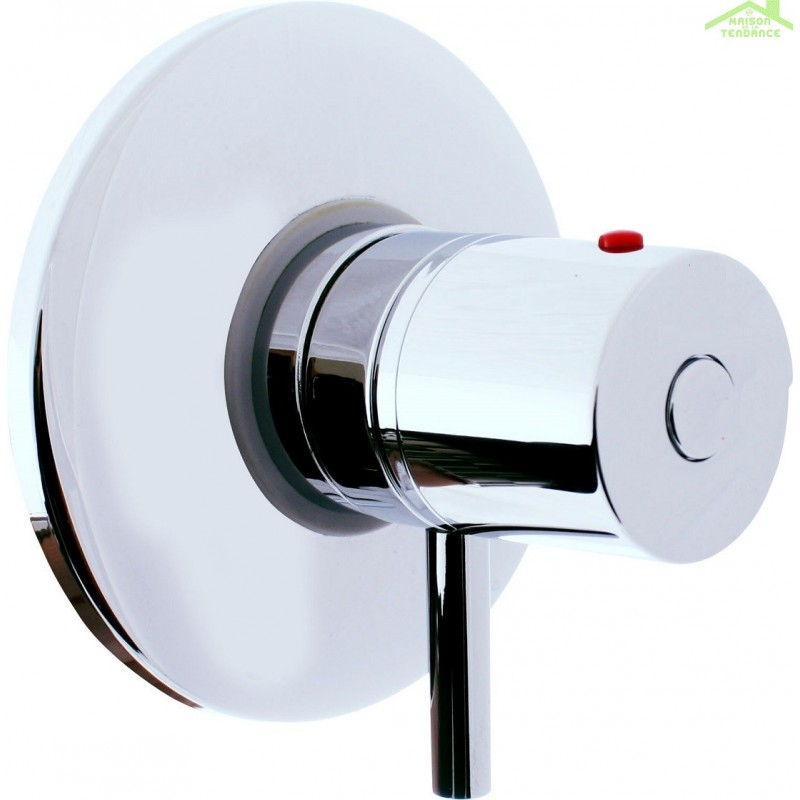 Mitigeur douche encastrable thermostatique en chrome maison de la tendance - Mitigeur thermostatique douche encastrable ...