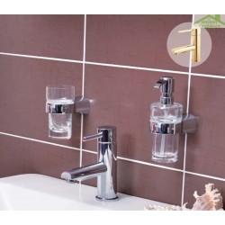 Mitigeur lavabo SEINA avec siphon en chrome ou en or