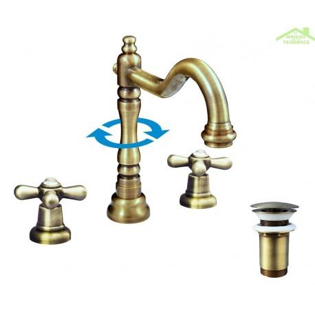 robinet 3 trous lavabo robinet batterie de lavabo trous. Black Bedroom Furniture Sets. Home Design Ideas
