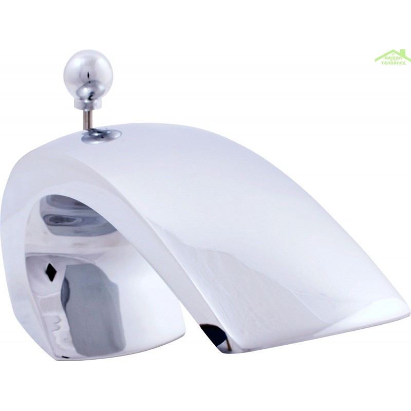 mitigeur baignoire en chrome thermostatique 3 trous avec inverseur. Black Bedroom Furniture Sets. Home Design Ideas