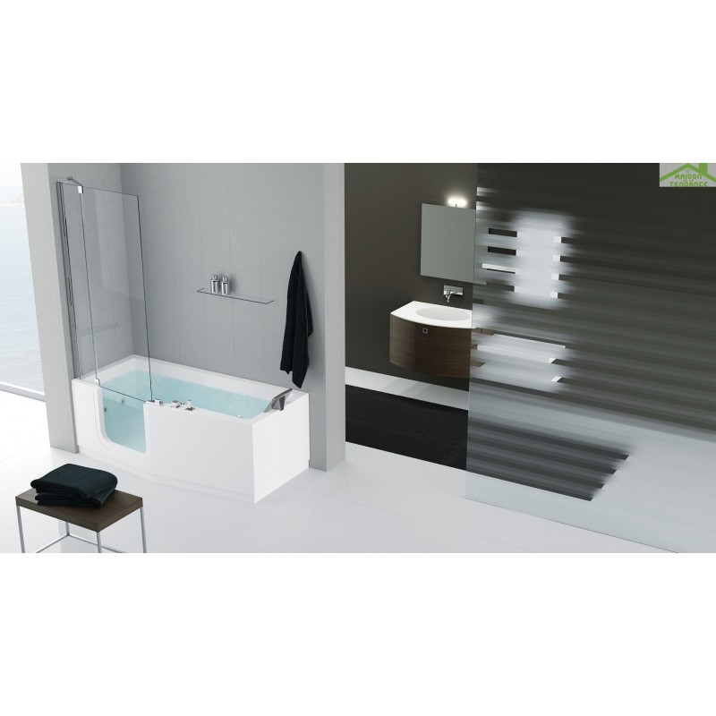 baignoire porte novellini iris version comby avec pare baignoire maison de la tendance. Black Bedroom Furniture Sets. Home Design Ideas