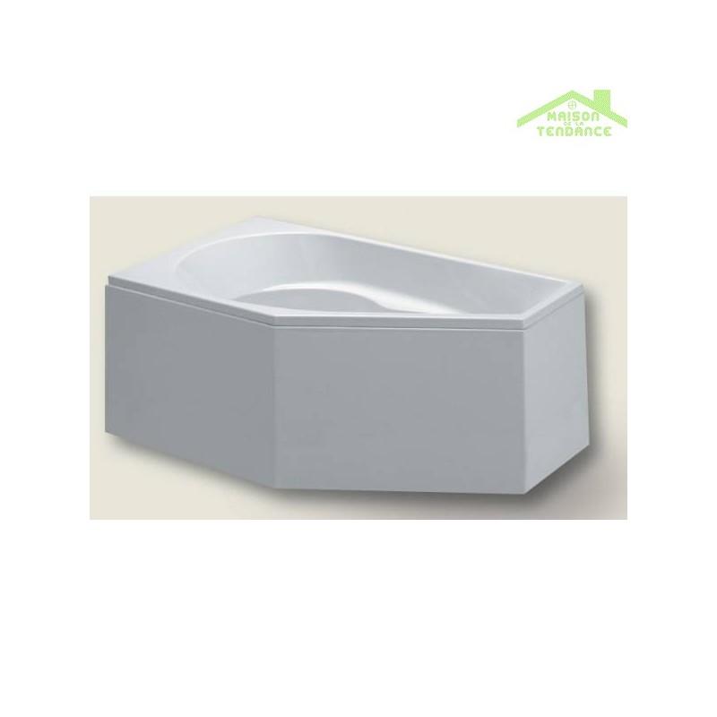 baignoire acrylique riho d 39 angle yukon 160x90 cm maison. Black Bedroom Furniture Sets. Home Design Ideas