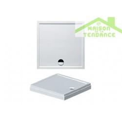 Receveur de douche acrylique carré RIHO DAVOS 251 90x90x4,5 cm  avec pieds et tablier