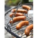 Barbecue sur Trépied - Grille en acier noir sablé