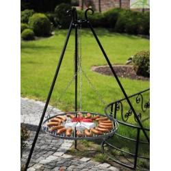 Barbecue sur Trépied, Grille en acier noir sablé