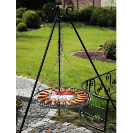 barbecue sur tr pied grille en acier noir sabl maison de la tendance. Black Bedroom Furniture Sets. Home Design Ideas