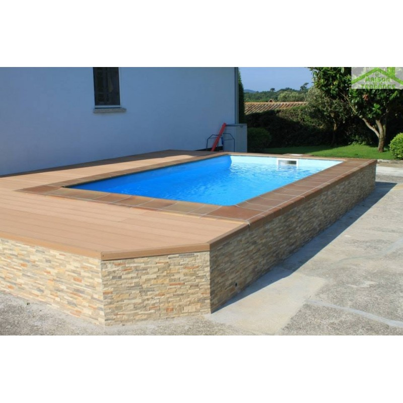 Kit piscine coque excellent piscine avec couverture for Kit piscine coque polyester