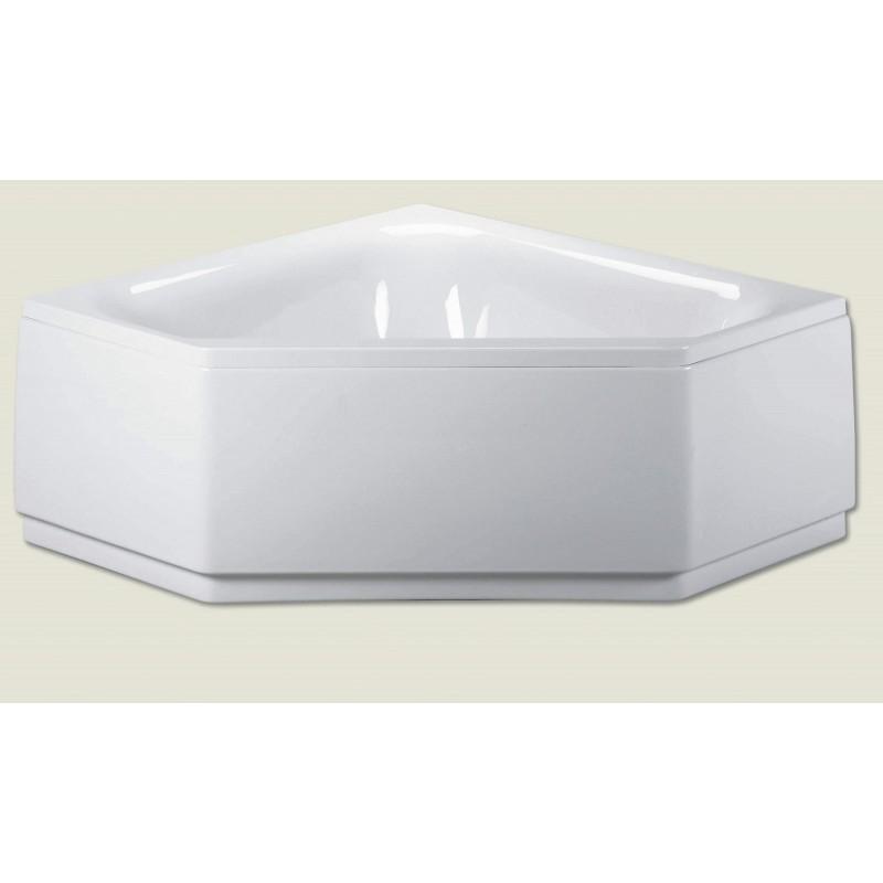 Baignoire d 39 angle acrylique riho austin 145x145cm maison for Baignoire acrylique