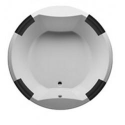 Grande baignoire ronde acrylique RIHO duo COLORADO 180x180 cm avec 4 appui-tête