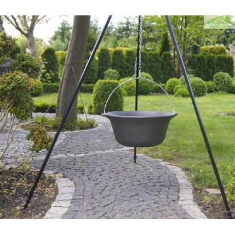 chaudron pot en fonte avec couvercle sur tr pied maison de la tendance. Black Bedroom Furniture Sets. Home Design Ideas