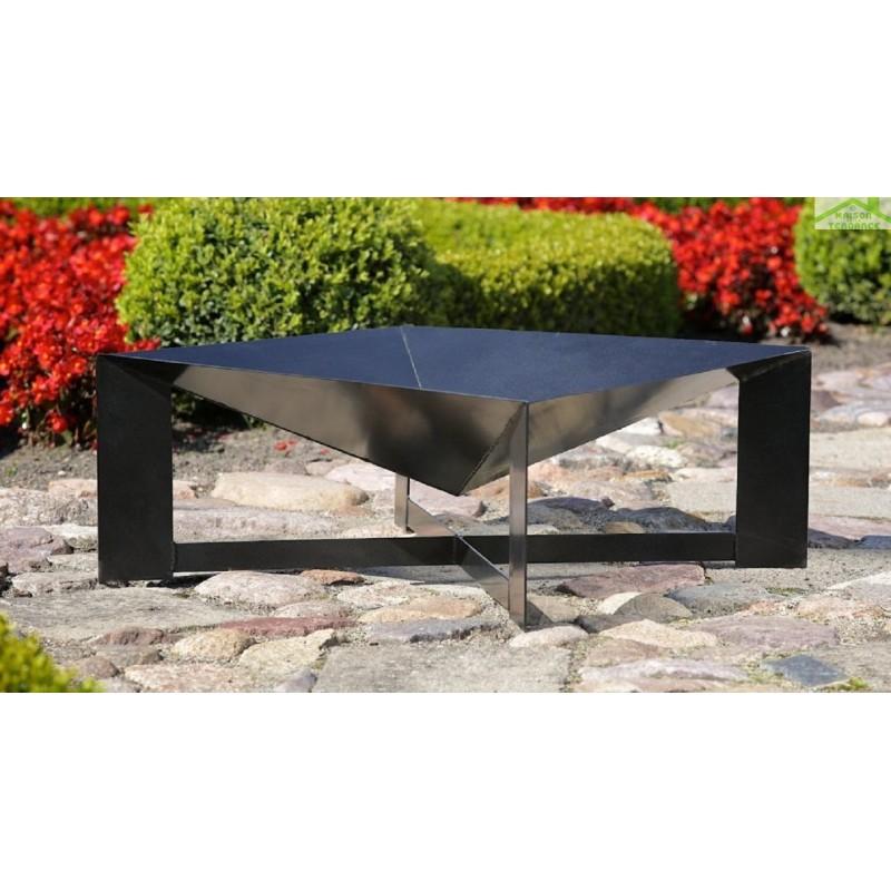 grille en acier noir sur tr pied brasero de jardin cuba maison de la tendance. Black Bedroom Furniture Sets. Home Design Ideas