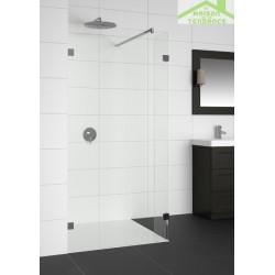 Parois de douche universelle fixe RIHO ARTIC A402 en verre clair