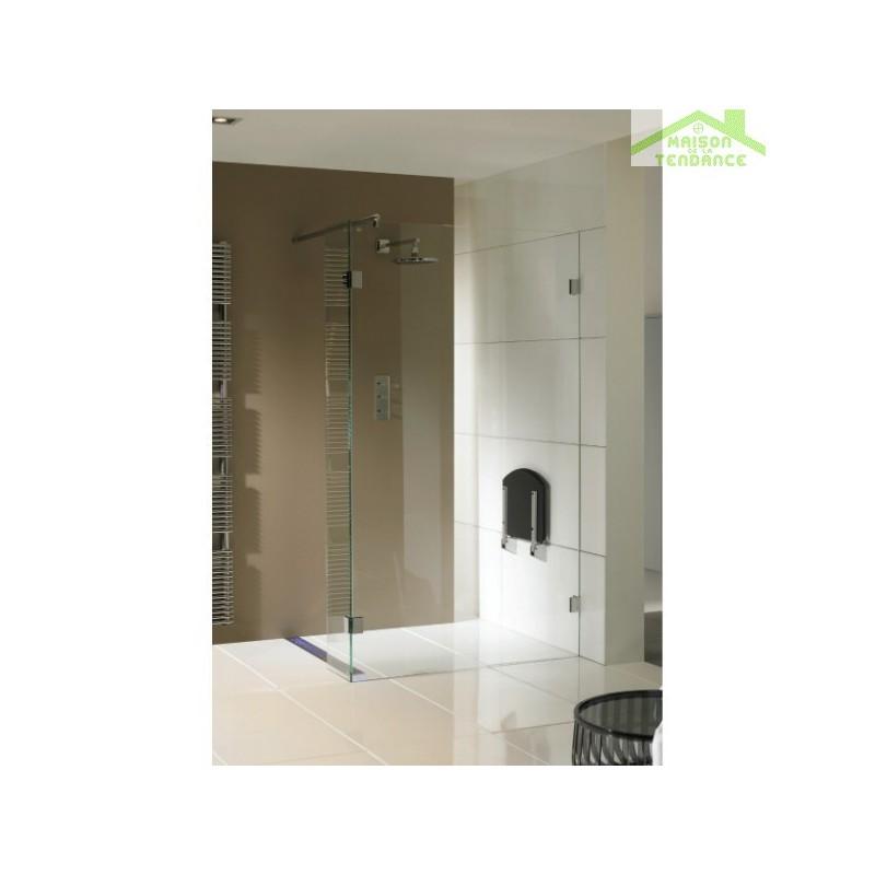 Parois de douche universelle fixe riho artic a402 en verre for Parois de douche en verre