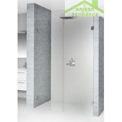 Porte battante de douche universelle RIHO SCANDIC S102 en verre clair