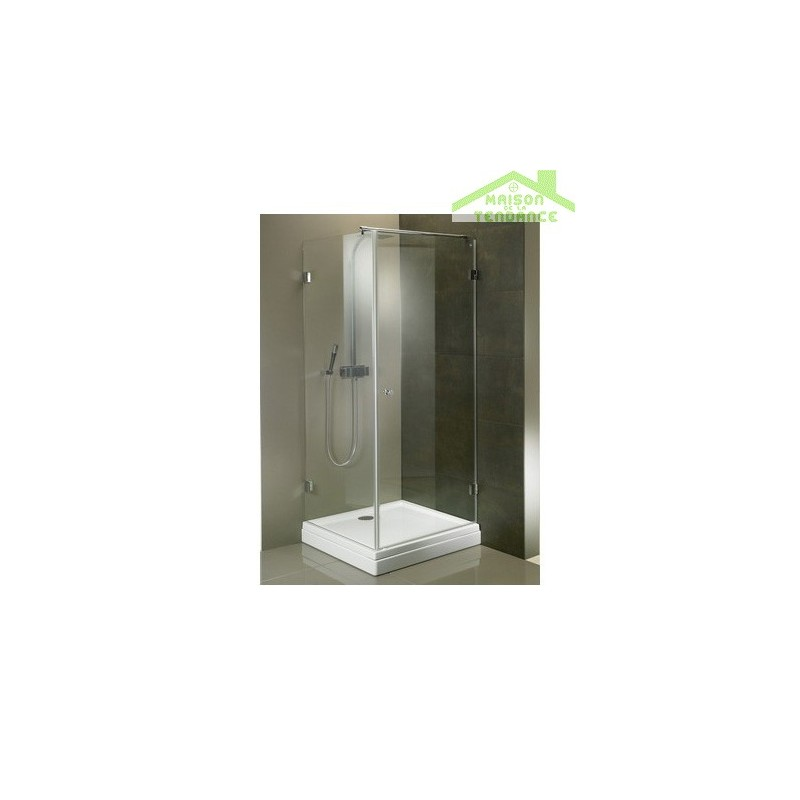 Porte battante de douche universelle riho scandic s201 en - Porte battante en verre ...