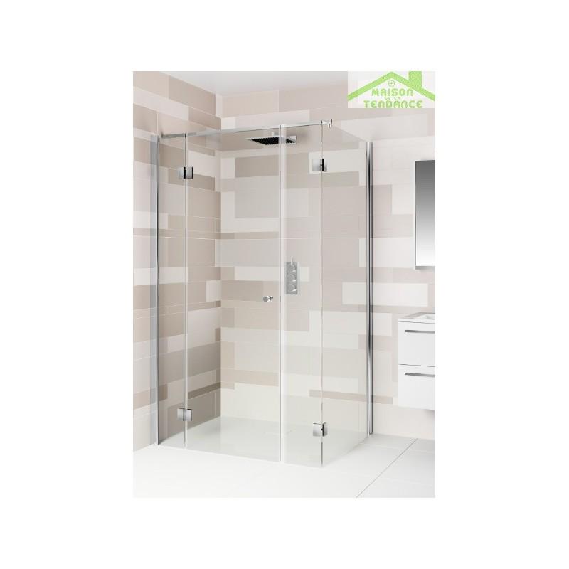 Parois de douche riho polar p205 en verre clair for Parois de douche en verre